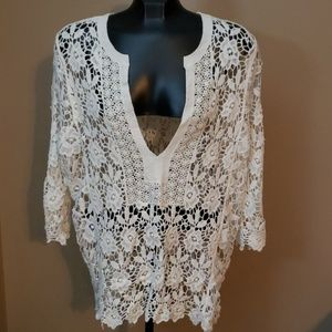 Brittany Black Floral Lace Top